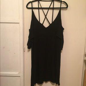 Boohoo, Black flowy dress